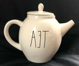 RAE DUN Ceramic TEA Pot Teapot Large Long Letters Farmhouse