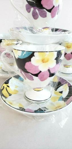 Royal Born Fine China Tea Cup and Saucer Set 7oz Coffee Cup