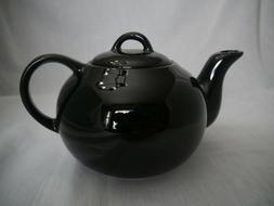 Solid Black Teapot Ceramic, 4-6 cup