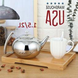 Stainless Steel Stovetop Teapot Coffee Pot Kitchen Water Boi