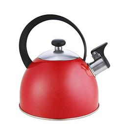Riwendell Stainless Steel Whistling Tea Kettle 2.7-Quart Sto