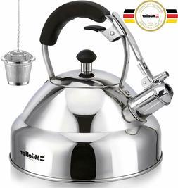 Mueller Austria Stove Top Whistling Tea Kettle - Stainless S