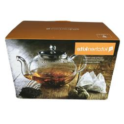 Stovetop Safe Tea Kettle, Holds 4-6 Cups, Glass Teapot with