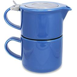 FORLIFE Tea for One with Infuser, 14-Ounce, Blue