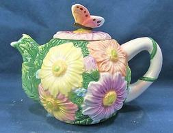 Teapot daisy small porcelain kitchen home decor