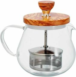 Hario Teapot Tea Infuser Wooden Lid 450ml
