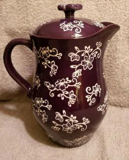 "Temp-tations Floral Lace ""2 Qt Teapot""- NEW!"