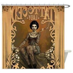 CafePress The Amazing Tattooed Lady Shower Curtain
