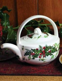 The Victorian Trading Co Bone China Holly & Ivy Christmas Te