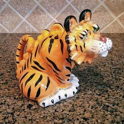 Tiger Teapot Home Kitchen Decorative Collectable Blue Sky He