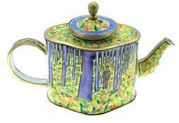 Kelvin Chen Van Gogh Undergrowth Enameled Miniature Teapot,