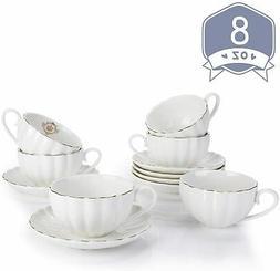 Vintage Cup Porcelain Tea Sets Teapot Coffee Saucers Set 16