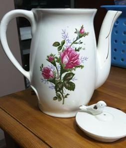 Vintage Electric Hot Water Teapot Pot Blue Floral 4 Cup Md i