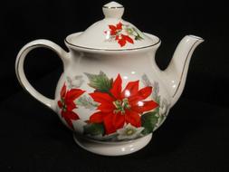 Windsor England Poinsettia 3-4 cup Teapot
